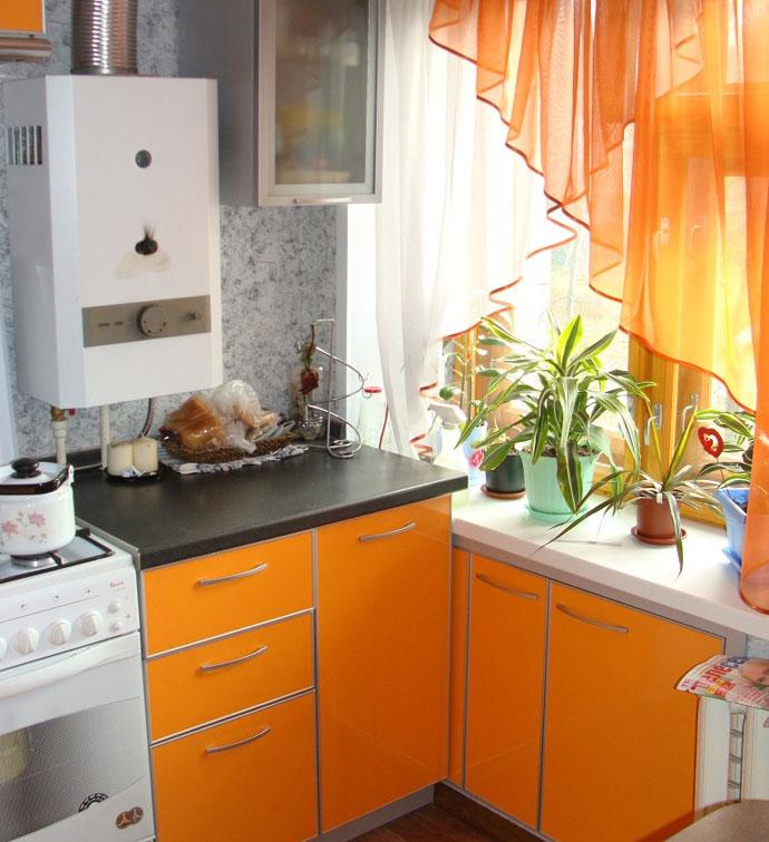 маленькие кухни с газовой колонкой. Кухня является сердцем любой квартиры