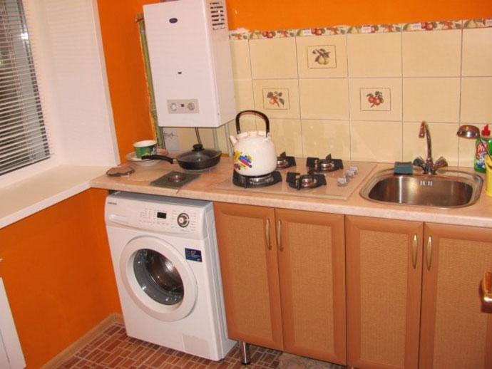 Ремонт квартир кухня с колонкой
